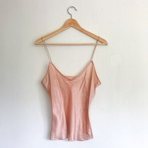 Tops - Vintage Silk Pink Cami